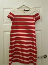 Sukienka czerwono biała rozmiar S Zara
