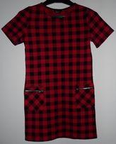 Sukienka dziecięca w kratę New Look rozmiar 140-146 cm