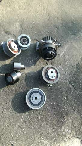 Audi, agents, rollers and tensioners and water pump for tdi