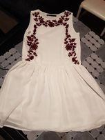 Biała sukienka XS/S ZARA NOWA