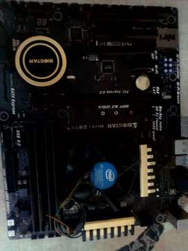Biostar Z97X7 motherboard with CPU and RAM core i7