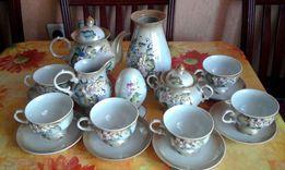 Чайный фарфоровый сервиз, прекрасный подарок к любому празднику!