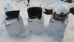 Kaski narciarskie UVEX - różne rozmiary, kolory # gwarancja