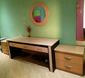 Dressing table with wall mirror and Pedestals
