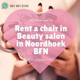 Rent a chair for nail tech available