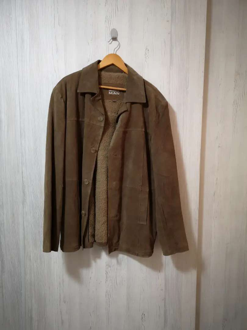 Brown Leather Suede Jacket