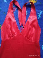 платье плаття красное червоне 36 / С S
