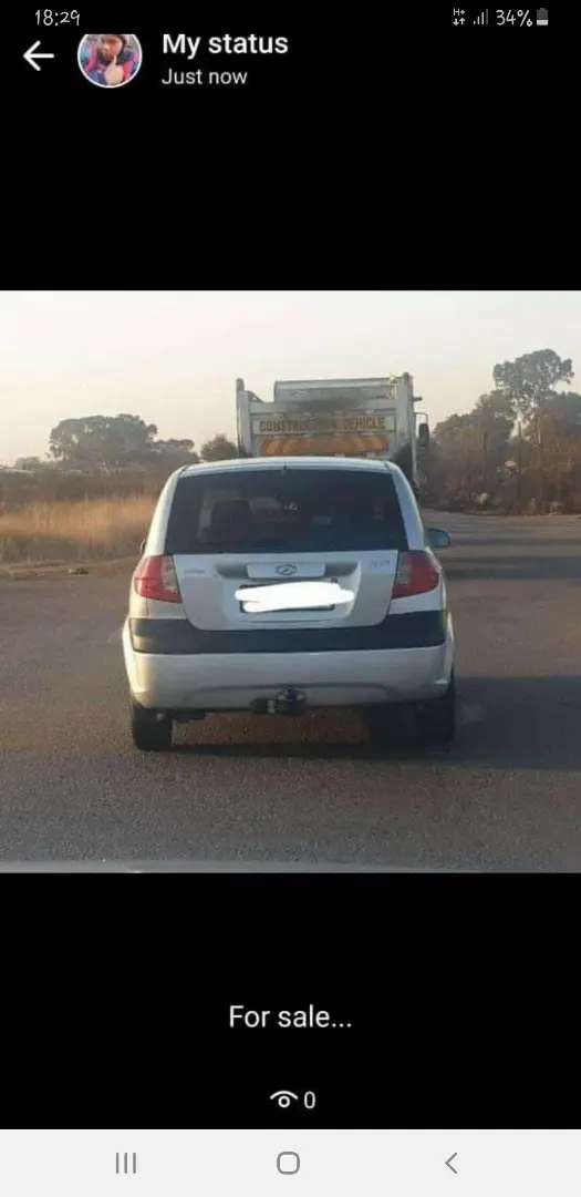 Hyundai Getz grey colour and is manual, still in good condition 0