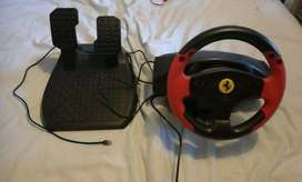PS3 / PC Racing Wheel Ferrari Red Legend with Pedals