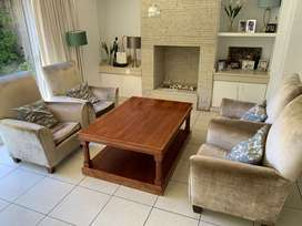 Solid wood Brown coffee table
