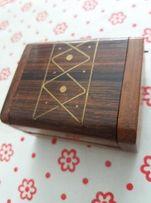 Kasetka drewniana na drobna biżuterie