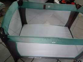 Baby Blue Camping Cot