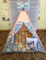 Цена с ковриком бонбон. Вигвам в наличии. Палатка детская. Домик