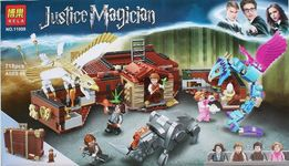 Klocki jak lego Harry Potter -walizka gratis karty
