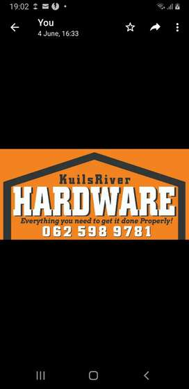 Hardware store  Experienced Sales person required in kuilsriver