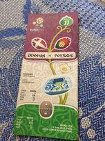 Билет с матча Евро 2012 Дания Португалия , новый, категория 1