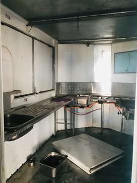 Caravan it has got sinks inside and also Gas stove connection