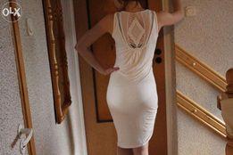długa biała tunika sukienka WEROMODA w rozm. M