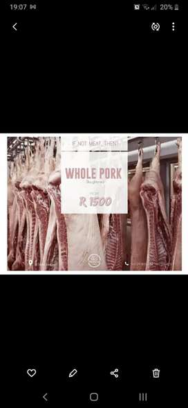 Whole Pork slaughtered