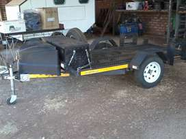 Trailer, breakneck, for quats, bikes or golf card