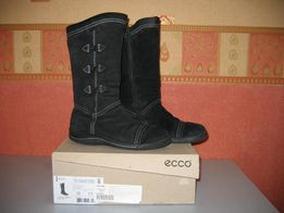 Сапоги для девочки черные замша ECCO Дания р. 35 осень зима Gore-Te