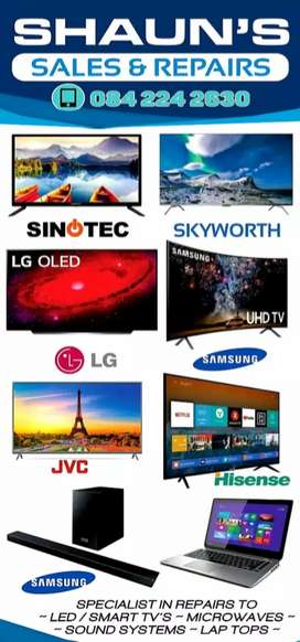 TV repairs to Led smart TVs curve and flat