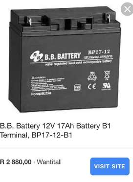 B.B. Battery©  12V 17Ah Battery, Sealed Lead Acid battery
