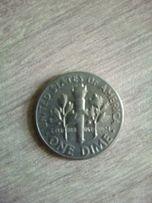 Moneta one dime USA 1966