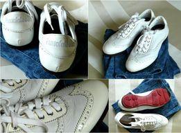 Итальянские бежевые туфли оксфорды