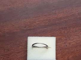 Real goldenring silver ring