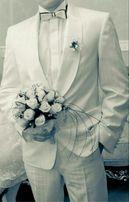 Белый свадебный смокинг / костюм