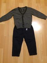 Sweter Reserved, spodnie ocieplane slim roz. 80