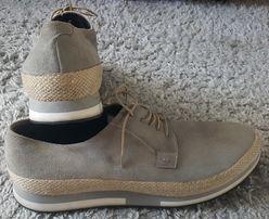 Оригинал!фирменные,итальянские,замшевые туфли-броги- alberto guariani