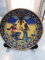 Тарелка фарфоровая, Египет, настенная, плюс подставка - в подарок.