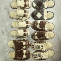 Тапочки с овчины тапки домашняя обувь чуни чуні овчина капці пинетки