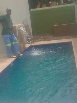 New luxurious swimming pools with water feature