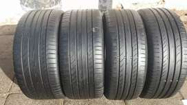 A set of BMW 255/40/18 and 225/45/18 Continental tyres for sell