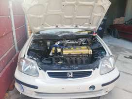 honda ballade  b20 motor car is scrapped