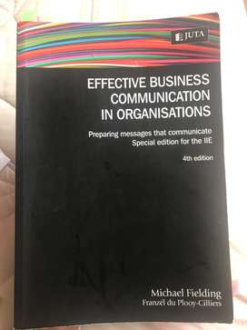 Effective Business Communication In Organisations Text Book