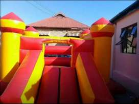 Jumping castle for hire with slide