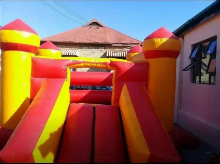 Jumping castle for hire with slide 0