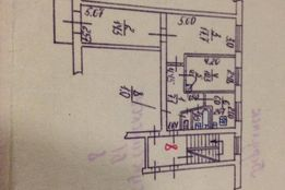 3-х комнатная квартира с автономкой. 2-й 5-ти. Колония.