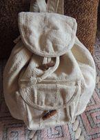 Новый женский рюкзак, маленькая сумочка на шлейках,натуральный лен