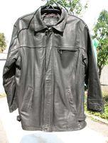 Куртка мужская зимняя кожаная 54-56