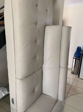Cream L shaped couch for sale