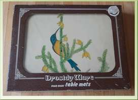VINTAGE DROSTDY WARE HAND MADE PLACE MATS - BIRDS