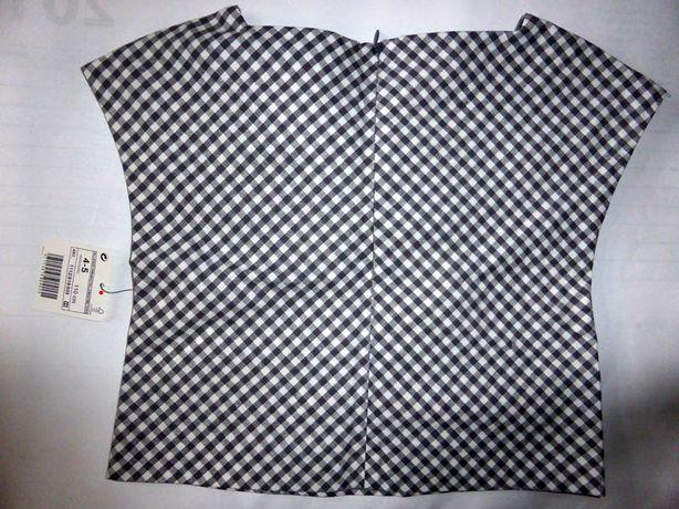 ZARA bluzka top kratka Vichy 4-5 lat 110 nowa Szczecin - image 1