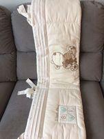 Ochraniacz otulacz lniany na łóżeczko niemowlęce osłonka