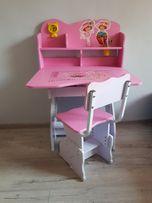 NOWY ZESTAW biurko krzesło REGULACJA WYSOKOŚCI stolik dziecięcy