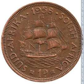 i have a 1958 qeeun elizebeth with ship on back of coin to selk